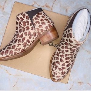 NWT MATISSE Leopard Leather Ready or Not Bootie